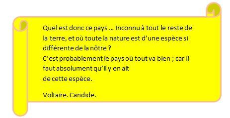 Extrait Voltaire, Candide